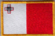 Malta Embroidered Flag Patch, style 08.